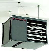 Sterling rf gas garage heater information for How much to install a garage heater