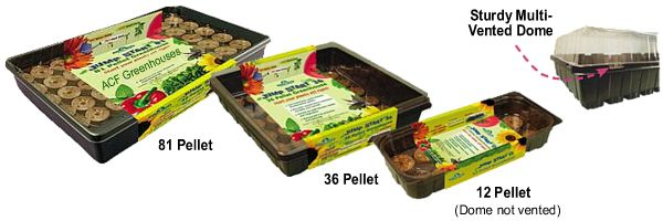 Containers trays grow bags root pots amp jump start jiffy greenhouses