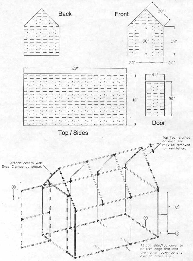 Free pvc greenhouse plans for Green home blueprints