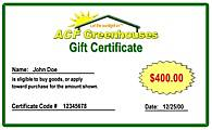 ACF Gift Certificate